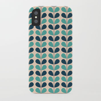 Flowers Leafs iPhone Case by vanessavolk