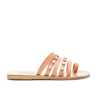 Ancient Greek Sandals Leather Niki Pearls Sandals in Natural | FWRD