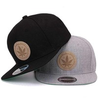 Weed Marijuana Leaf Snapback Cute, Graphic, Cool Baseball Caps - Unisex Hip Hop Caps