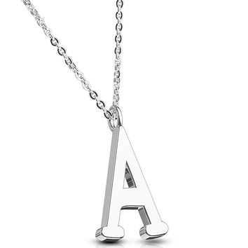 BodyJ4You Necklace Initial Letter Pendant Her Name A-Z Women Girl Personalized Charm Gift Jewelry