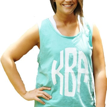 Comfort Colors Monogram Printed Tank