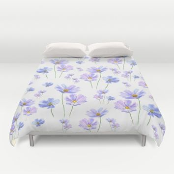 purple cosmos  Duvet Cover by Color And Color