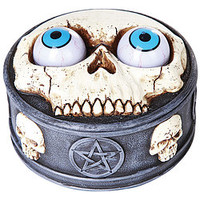 Skull Box With Rolling Eye Balls