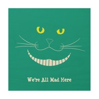 Smiling Cheshire Transparent Cat Wood Art Wood Wall Art