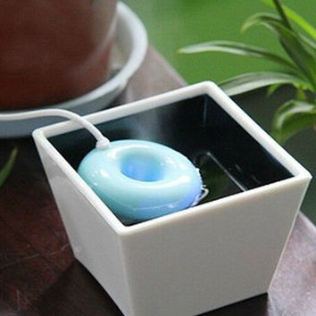 Portable Doughnut Air Humidifier with Bottle for Office Home Travel