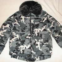 Modern Russian Military Winter Jacket Uniform Snow Area, Camo