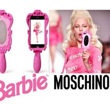 MOSCHINO BARBIE DOLL MAGIC MIRROR CASE FOR IPHONE 6 5 4