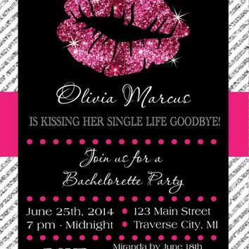 Lips Bachelorette Party Invitation