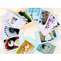20 PCS Milky Color Pattern Films Sticker For FujiFilm Instax Mini 8 7s 25 50s