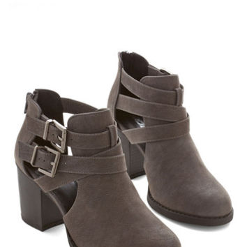 ModCloth Urban Adventure Essentials Bootie in Grey