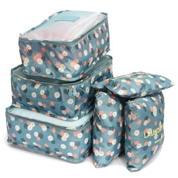TFBC-6Pcs Waterproof Clothes Travel Storage Bags Packing Cube Luggage Toiletry Bag Organizer Pouch Home Organization