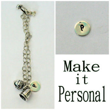 Peter Pan Jewelry - Personalize Any Peter Pan And Wendy SOLID Sterling Silver Jewelry Necklace, Bracelet, or Key Ring