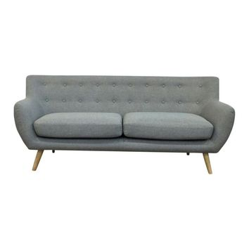 Ebba 3-Seater Sofa - Light Grey | Modern, Mid-Century & Scandinavian | GFURN