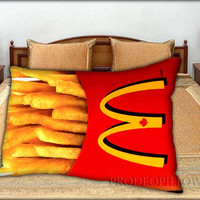 """McDonalds French Fries - 20 """" x 30 """" inch,Pillow Case and Pillow Cover."""