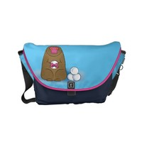 Snow Monkey Snowball Fighter Small Messenger Bag