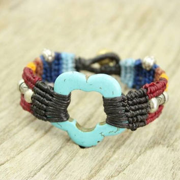 Colorful Woven Bracelet Fair Trade