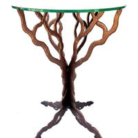 Branching Out Table Bronze Finish by Bernard Collin: Metal Side Table | Artful Home