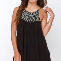 Amuse Society Marlowe Black Beaded Dress
