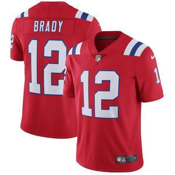 Men's New England Patriots Tom Brady Nike Red Vapor Untouchable Limited Player Jersey