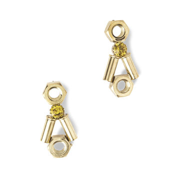 HALF UNITED Light Topaz Sherry Earrings