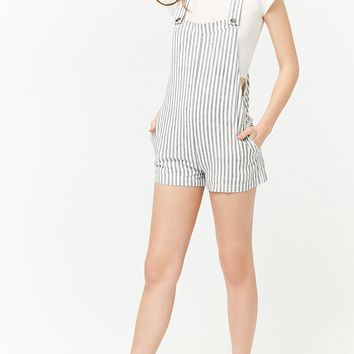 Striped Seersucker Overalls
