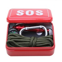 Survival SOS Emergency Kit with Paracord, Saw and Fire Starter