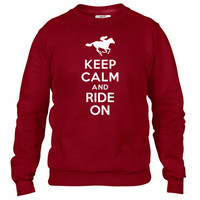 Keep calm and ride on Horse Crewneck sweatshirt