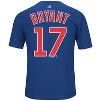 Majestic Chicago Cubs Kris Bryant Synthetic Player Name and Number Tee