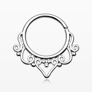 Goddess Filigree Septum Twist Loop Ring