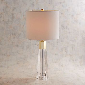 Gilded Crystal Table Lamp