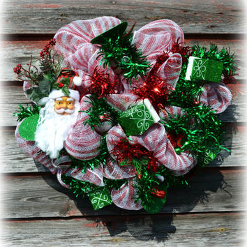 Christmas Wreath/ Santa Wreath/ Red and White Wreath/ Boxes Wreath/ Red and Green Wreath/ Holiday Wreaths