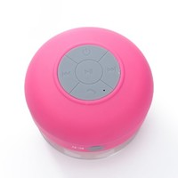 SplashETech Waterproof Bluetooth Wireless Shower Speaker Portable Speakerphone (Pink)