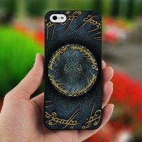 Lord Of The Rings tree Logo - Design for iPhone 5 Black Case