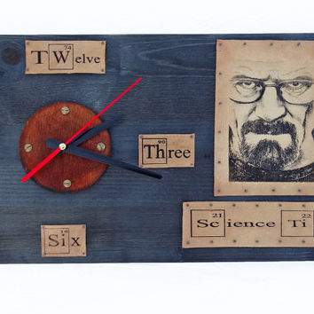 Breaking Bad Heisenberg Walter White Wall Clock Let's Cook Unique Gifts Engraved Housewarming For Boyfriend Better Call Saul Jesse Pinkman