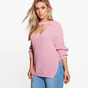 Big Size Women Clothing Casual Sexy Solid Hollow Out Split Slim Sweater Warm Plus Size Sweater 4XL 5XL 6XL