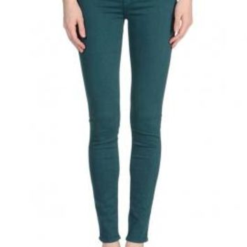 Hipster Vibe Low Rise Skinny Jeans in Dark Teal | Sincerely Sweet Boutique
