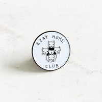 Stay Home Club Lapel Pin | Urban Outfitters