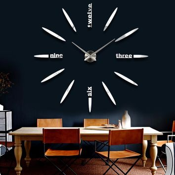 3D Acrylic Wall Clock Decal