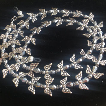 Silver Angel Eyeglass Chain