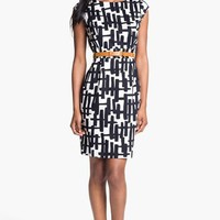 Tahari Print Cotton Sheath Dress | Nordstrom