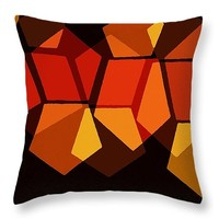 "Fall Shapes Throw Pillow 14"" x 14"""