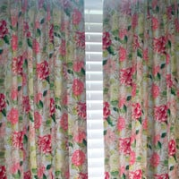 "Custom Drapery Panels/ 2 LINED panels - 84"" / Bedroom/ Sunroom/ Living room curtains"