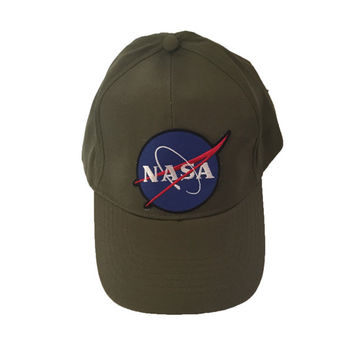 NASA HAT olive green nasa space patch