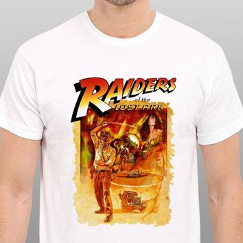 Indiana Jones Raiders Of the Lost Ark vintage Movie Art T-Shirt Size: S-to-XXL