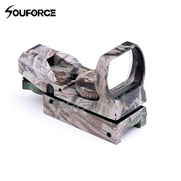 Camo Riflescope Red/Green Dot Sight Holographic Hunting Airsoft Optics Scope Reflex 4 Reticle Tactical Gun Supplies