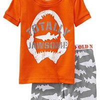Shark-Print PJ Sets for Baby
