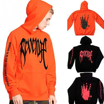 2018 Thefound Revenge XXXTentacion Kill MENS Sweat Hoodie Sweatshirt Orange Black Hoodies Sweatshirts