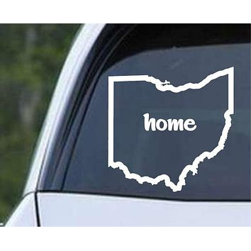 Ohio Home State Outline OH - USA America Die Cut Vinyl Decal Sticker