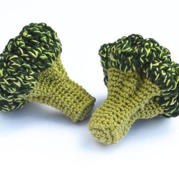 Crochet Broccoli (1pc) - Play Food - Teething Toy