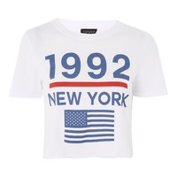 '1992 New York' Cropped T-Shirt | Topshop